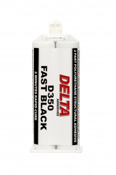 Rapid Bumper Plastic Bodywork Epoxy Adhesive Fast Black Polyurethane Twin Cartridge 50ml-0