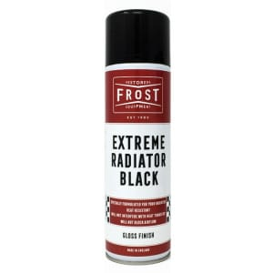 Frost Extreme Radiator Black Paint Aerosol - Gloss Finish (500ml)