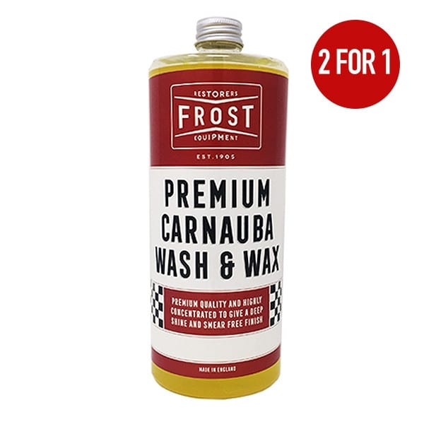Frost Premium Carnauba Wash & Wax - Concentrated Shampoo 1L, Smear Free Finish