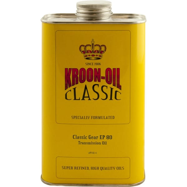 Kroon Oil Classic Gear EP 80 - Medium SAE 80 Transmission Oil (1L)