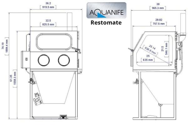 Aquanife - Non-Abrasive Wet Blasting / Vapour Honing Cabinet-12638