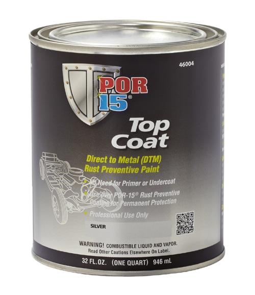 POR15 Top Coat Red 946ml (US Quart)