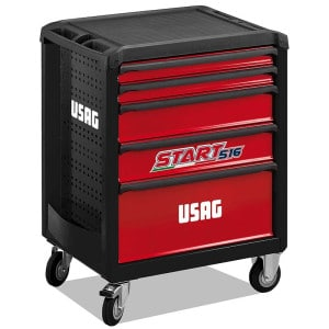 USAG 146 Piece Start 516 Roller Cabinet - Maintenance - 5 Drawers