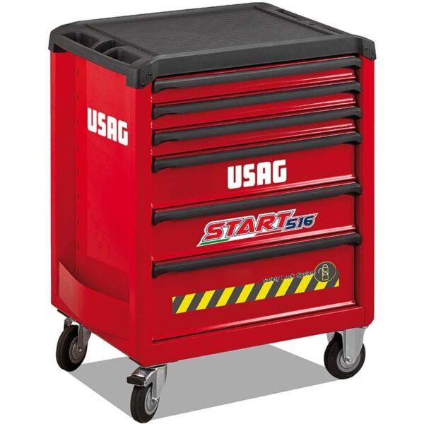 USAG Start 516 Roller Cabinet Anti-Tilt System 6 Drawers