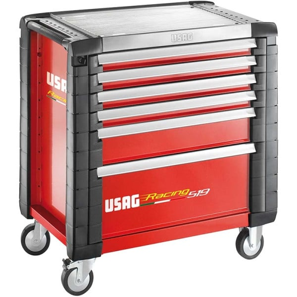 USAG Racing 519 Roller Cabinet Red - 6 Drawers - 4 Modules