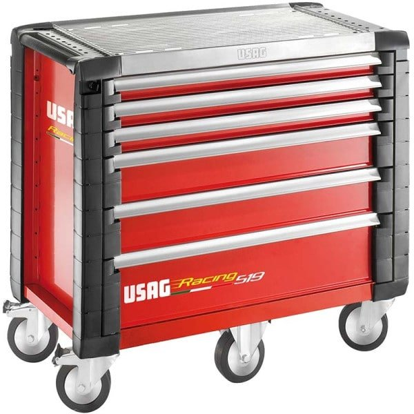 USAG Racing 519 Roller Cabinet Red - 6 Drawers - 5 Modules