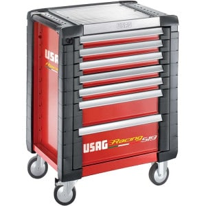 USAG Racing 519 Roller Cabinet Red - 7 Drawers