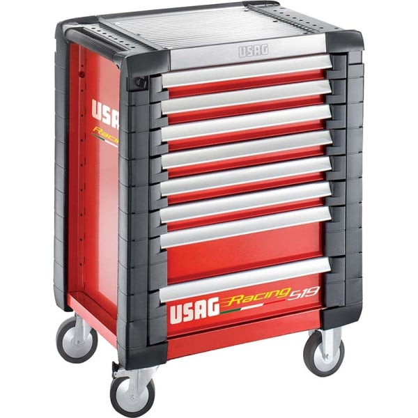 USAG Racing 519 Roller Cabinet Red - 8 Drawers