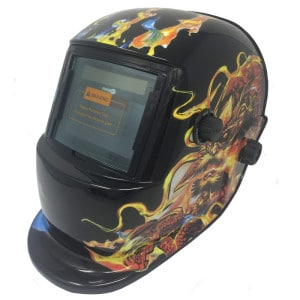 True Colour Welding Helmet - Dragon Design
