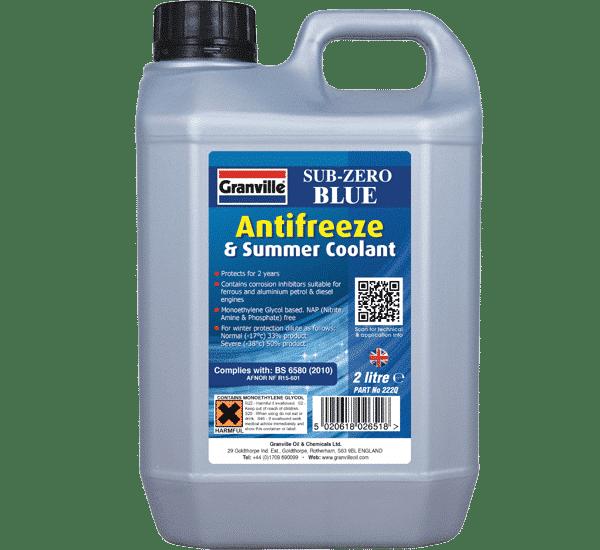 Granville Sub Zero Blue Antifreeze and Summer Coolant (2L)