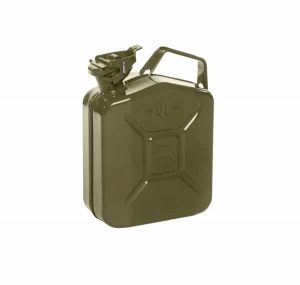 5L Olive Green Metal Fuel Jerry Can (Powder Coated Inside & Out