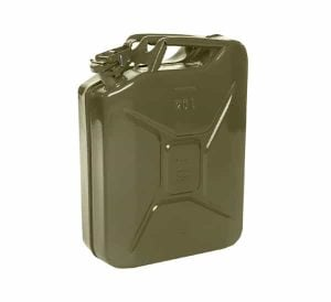 20L Olive Green Metal Fuel Jerry Can (Powder Coated Inside & Out
