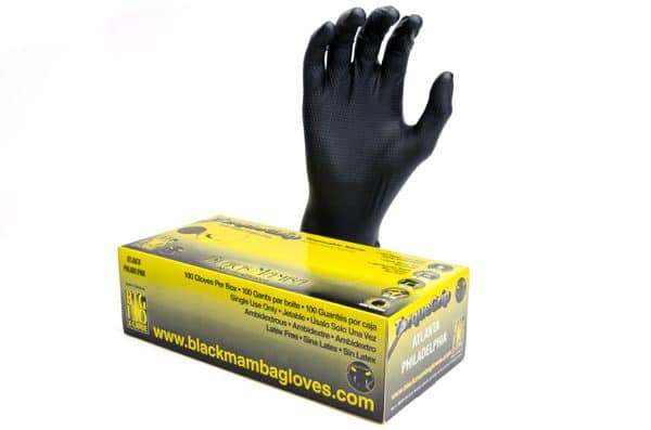 Black Mamba Torque Grip Nitrile Gloves (Medium