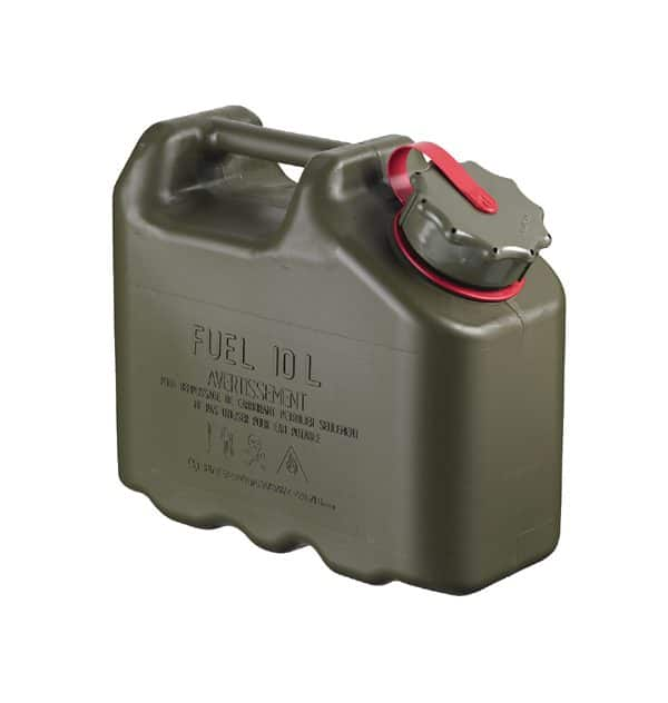 Scepter US Military spec Jerry Plastic Fuel Can (10L - Petrol)