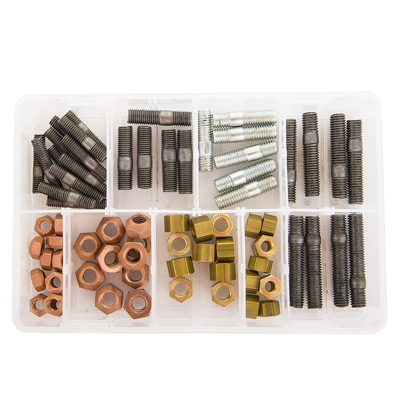 Brass Metric Studs and Nuts (72 Pieces)