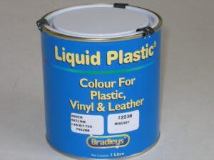 Interior Liquid Plastic Paint Soft Leather/Vinyl Coat - OFF WHITE (1L)