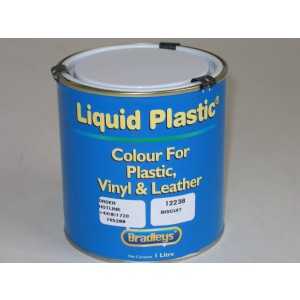 Interior Liquid Plastic Paint Soft Leather/Vinyl Coat - LIGHT GREY (1L)