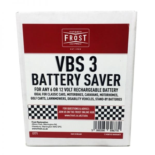Frost VBS3 - A 6 or 12 Volt Battery Saver