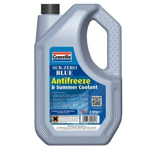 Granville Sub Zero Blue Car Antifreeze Summer Coolant Concentrate Long Life 5l