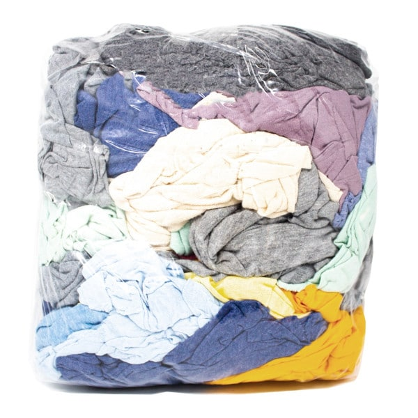 Coloured Mixed Cotton T-Shirt Wipes 2kg