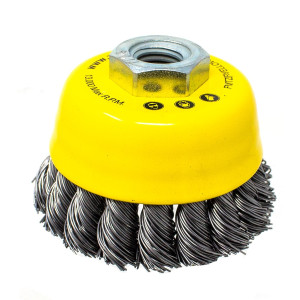 65mm Knotted Steel Wire Brush for 155mm electric angle grinder