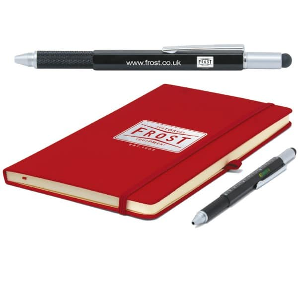frost note book and pen